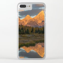 Sunrise On The Snake River Clear iPhone Case