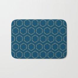 Eucalyptus Patterns with Blue Background Realistic Botanic Patterns Organic & Geometric Patterns Bath Mat