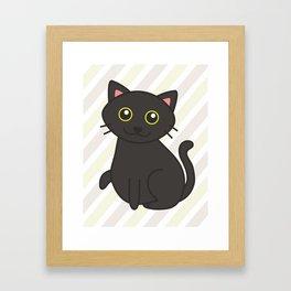 Stitch the Fat(ass) Cat Framed Art Print