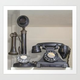 Vintage bakelite candlestick telephone Art Print