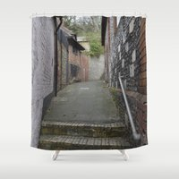 winchester Shower Curtains featuring Winchester Alley by Ashley Callan