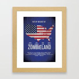 Zombieland Framed Art Print