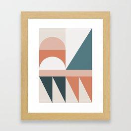 Cirque 03 Abstract Geometric Framed Art Print