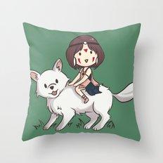 Princess Mononoke II Throw Pillow