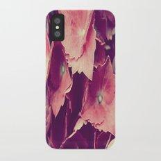 purple flowers Slim Case iPhone X