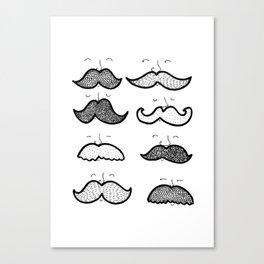 Moustache Men Canvas Print