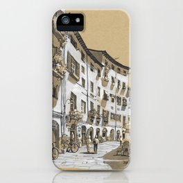 Piazza dell Anfiteatro, Lucca, Italy iPhone Case
