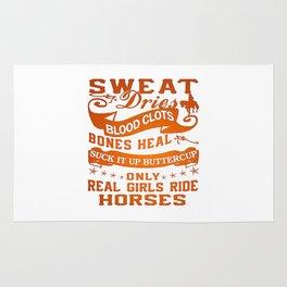 Real Girls Ride Horses Rug