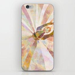 Sleeping Ballerina Floral - Gold Summer Palette iPhone Skin