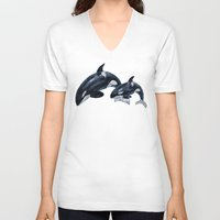 orca V-neck T-shirts featuring Orca by vervex