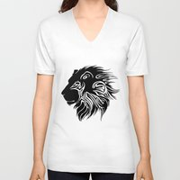 lions V-neck T-shirts featuring Proud Lions by Harry Martin