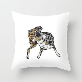 Dog Lover (Spotted Australian Shepherd) Throw Pillow