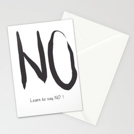 Say No ! Art print Stationery Cards