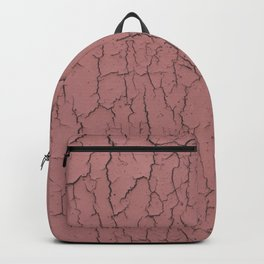 Pink cracked wall paint abstract art wall decor Backpack