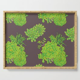 Succulent Pattern Serving Tray