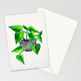 Philodendron Plant Stationery Cards