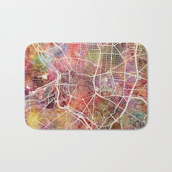 Madrid map Bath Mat