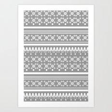 Christmas Jumper Grey Art Print