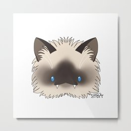 Spoopy Birman Kitty disguise! Metal Print