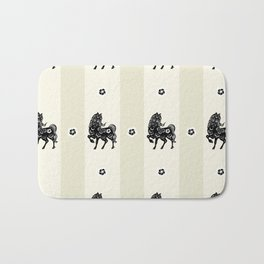 Horse Paper Cut Bath Mat