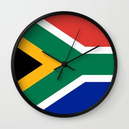 South African flag - high quality image Wall Clock