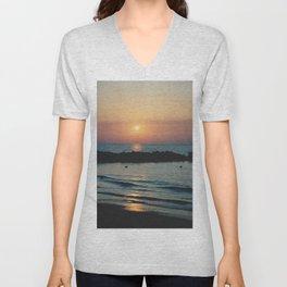 Sunset Ocean Bliss #1 #nature #art #society6 Unisex V-Neck