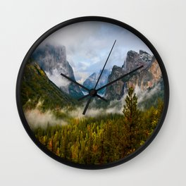 Yosemite National Park / Tunnel View  4/26/15 Wall Clock