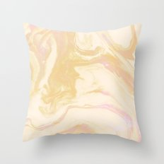 Gold Pink Marble Throw Pillow
