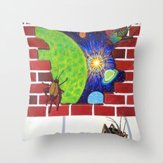 Crickets in the Walls Throw Pillow
