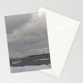 High Waves over Break Wall 2 Stationery Cards