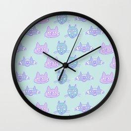 Happy Cats blue Wall Clock