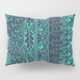 Mountain Tapestry in Midnight Teal Pillow Sham