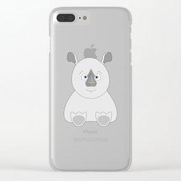 Baby Rhino Clear iPhone Case
