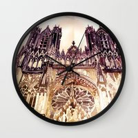 takmaj Wall Clocks featuring Reims by takmaj
