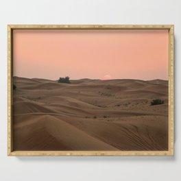 Arabian Desert Sunset Serving Tray