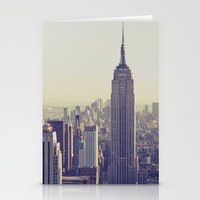 nyc Stationery Cards featuring NYC by Chernobylbob