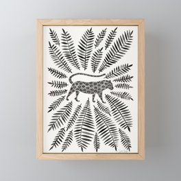 Black Jaguar Framed Mini Art Print