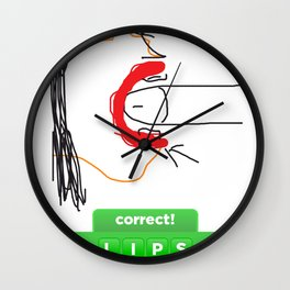 guess what? lips Wall Clock