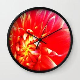 Red Dahlia Wall Clock