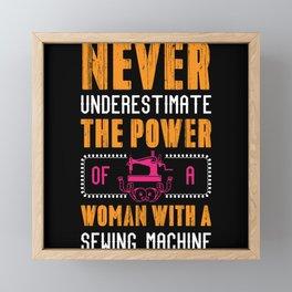 Never Underestimate The Power Of Woman Framed Mini Art Print