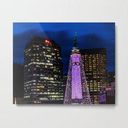 Indianapolis Monument Circle Christmas Tree Metal Print