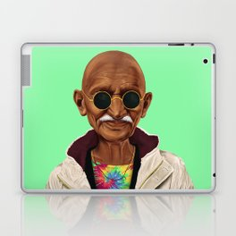 Hipstory -  mahatma gandhi Laptop & iPad Skin