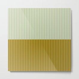 Color Block Lines XXI Moss Metal Print