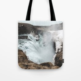 Gullfoss - Landscape Photography Tote Bag