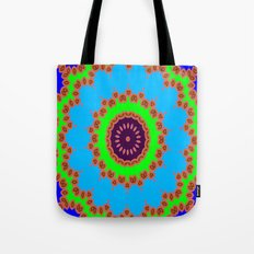 Lovely Healing Mandalas in Brilliant Colors: Royal Blue, Green, Light Blue, Orange, Maroon and Pink Tote Bag