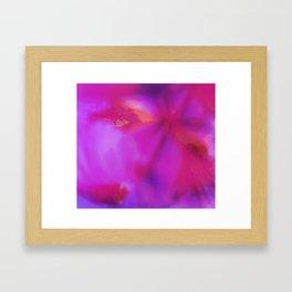 Pink flower ~ Abstract Framed Art Print