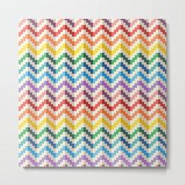 Flat geomatric rainbow pattern Metal Print