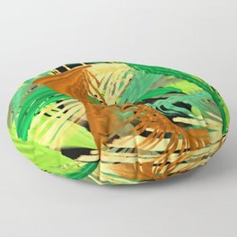 Into the jungle digital painting Floor Pillow
