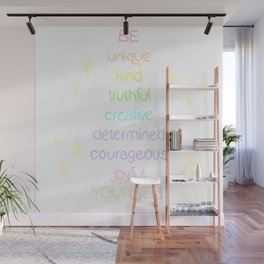 BE YOURSELF Advice Design Wall Mural