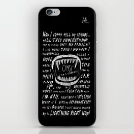 OMG! I AM A GAY VAMPIRE!! iPhone Skin